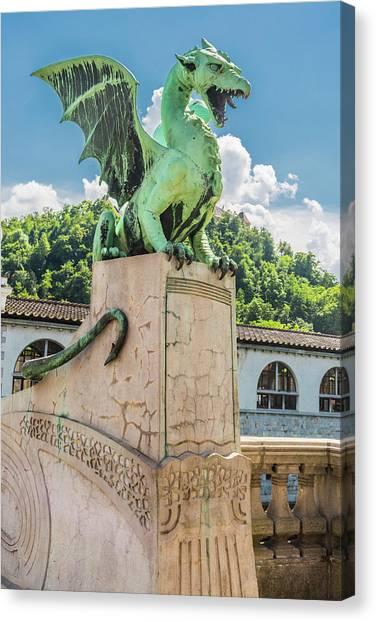 Ljubljana Canvas Print - Ljubljana's Dragon by W Chris Fooshee
