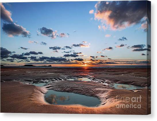 Llangennith Beach Canvas Print