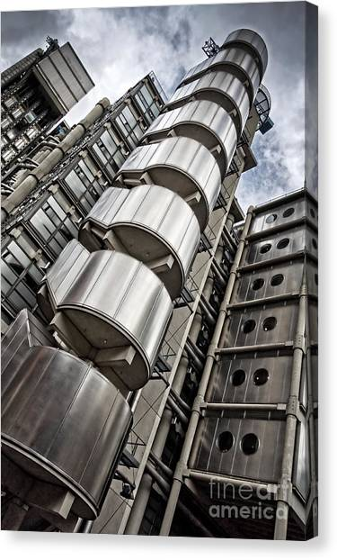 Lloyds Building In London Canvas Print by Delphimages Photo Creations