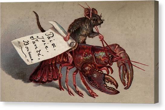 Lobster Jockey Canvas Print by Hulton Archive