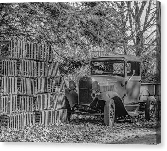 Lobster Pots And Truck Canvas Print