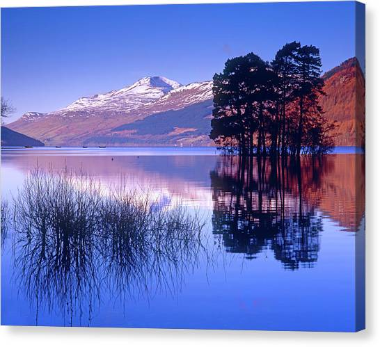 Loch Tay, Kenmore, Scotland Uk Canvas Print by Kathy Collins