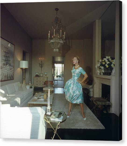 Lola Albright Canvas Print by Slim Aarons