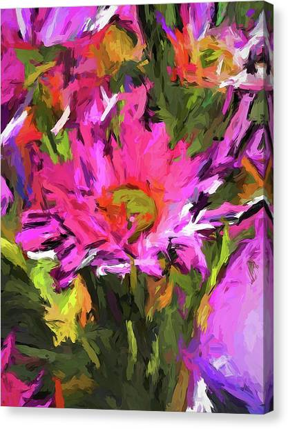 Lolly Pink Daisy Flower Canvas Print