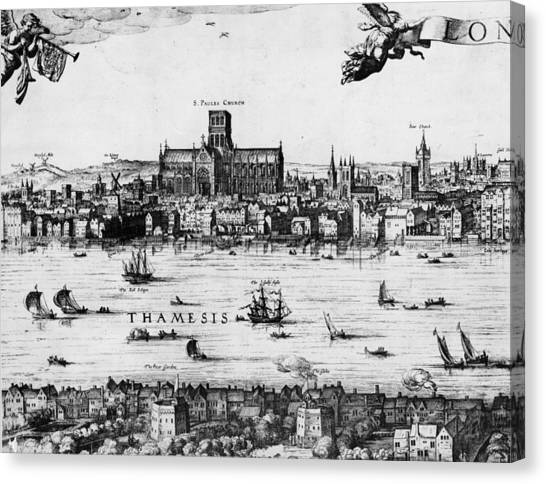 London 1616 Canvas Print by Hulton Archive