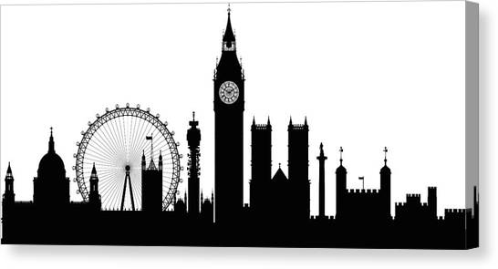 London Buildings Are Detailed, Complete Canvas Print by Leontura