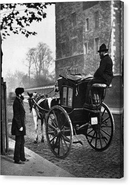 London Cabmen Canvas Print by John Thomson
