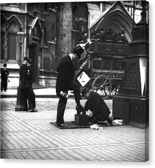 London Shoeshine Canvas Print by Paul Martin
