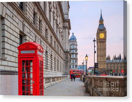 British Canvas Print - London Skyline With Big Ben And Houses by F11photo
