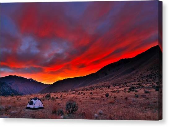 Lone Tent Canvas Print