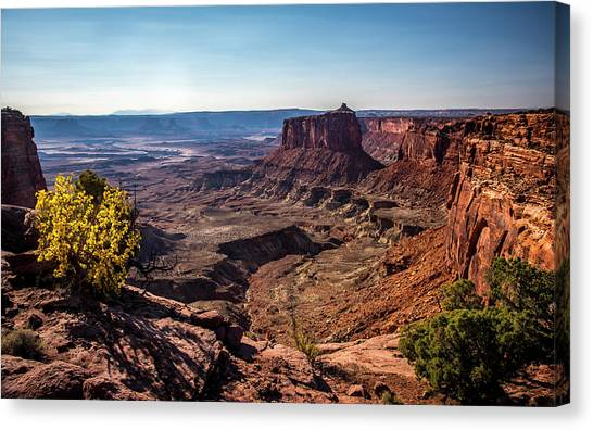 Canvas Print featuring the photograph Lonely Butte by David Morefield
