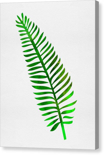 Cacti Canvas Print - Lonely Tropical Leaf II by Naxart Studio