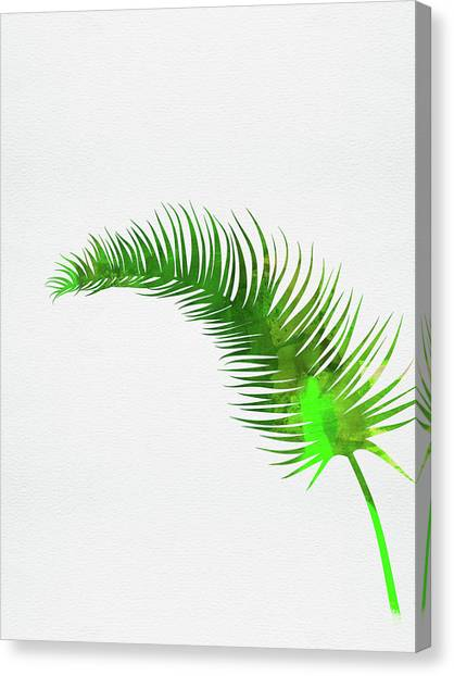 Cacti Canvas Print - Lonely Tropical Leaf by Naxart Studio