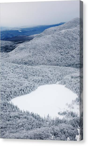 Lonesome Lake From Hi-cannon Trail Canvas Print by Premium Uig