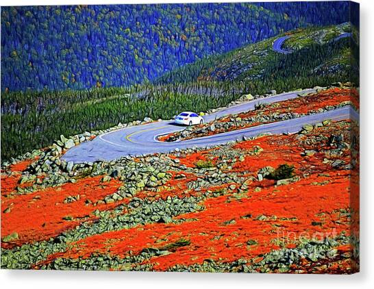 Canvas Print featuring the photograph Long And Winding Road by Patti Whitten