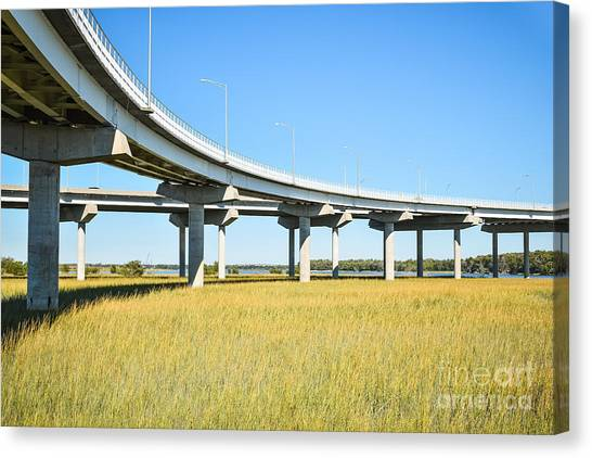 Long Concrete Bridge  Canvas Print