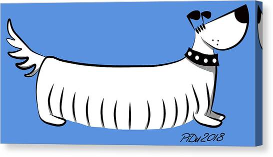 Long Dog Canvas Print