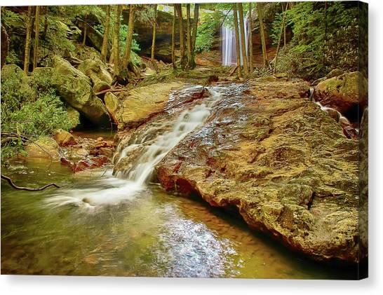 Long Falls Canvas Print