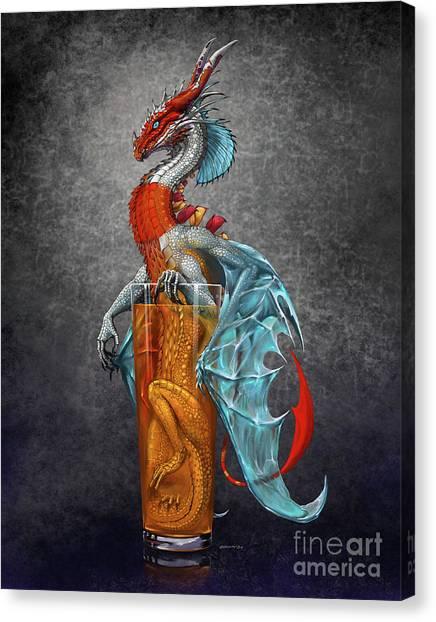 Long Island Ice Tea Dragon Canvas Print