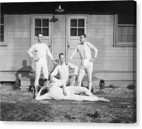 Long Johns On Canvas Print by Archive Photos