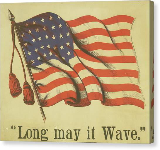 Long May It Wave Canvas Print