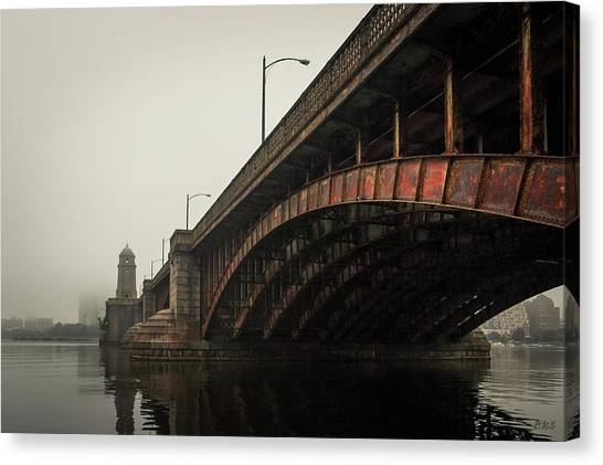 Canvas Print featuring the photograph Longfellow Bridge I Color by David Gordon