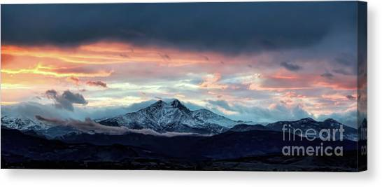 Longs Peak At Sunset Canvas Print