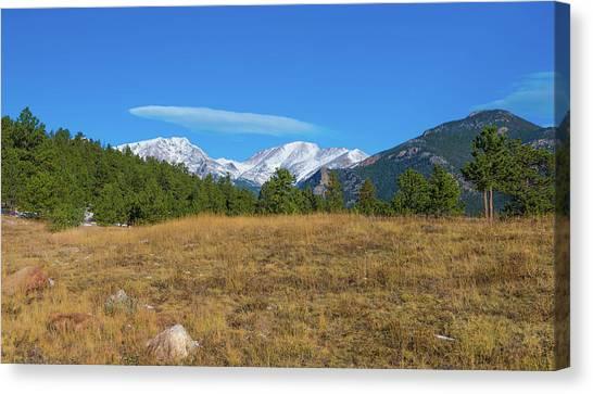 Longs Peak From Upper Beaver Meadows Canvas Print