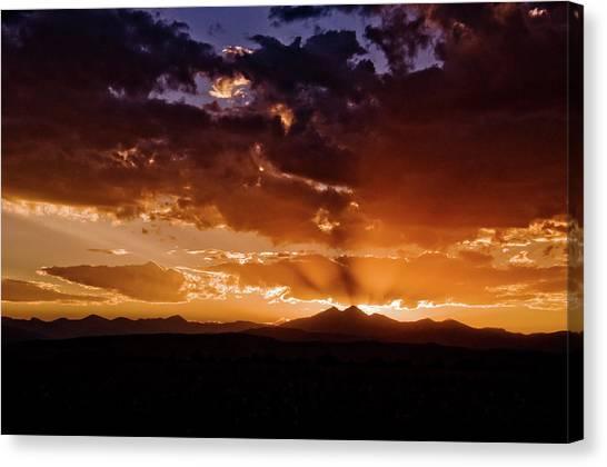 Longs Peak Sunset Canvas Print