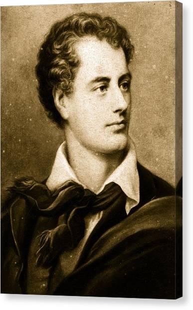 Lord Byron Canvas Print by Hulton Archive