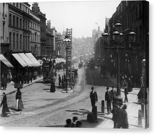 Lord Street Canvas Print by London Stereoscopic Company