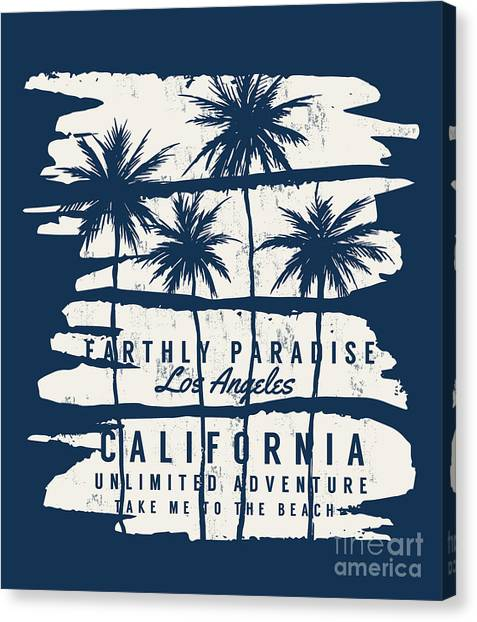 Sports Clothing Canvas Print - Los Angeles, California Typography For by Kano07