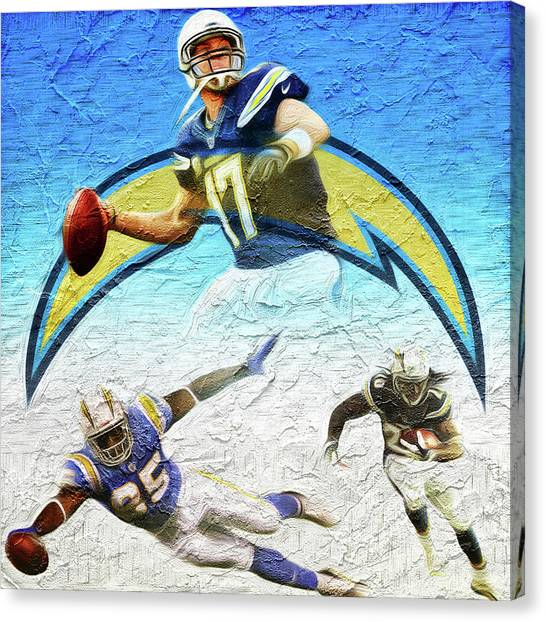 Los Angeles Chargers Canvas Print - Los Angeles Chargers by Sports Basics