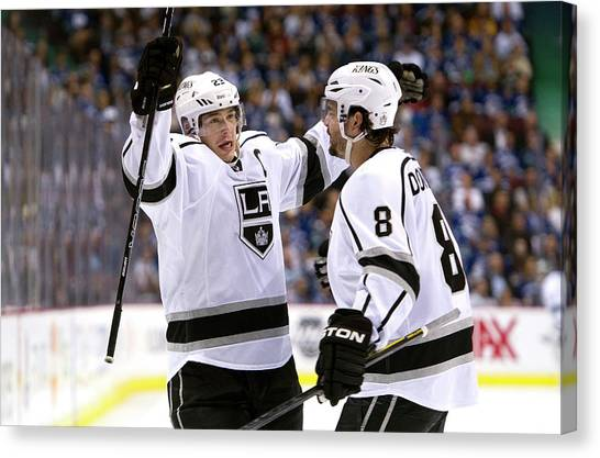 Los Angeles Kings V Vancouver Canucks - Canvas Print by Rich Lam