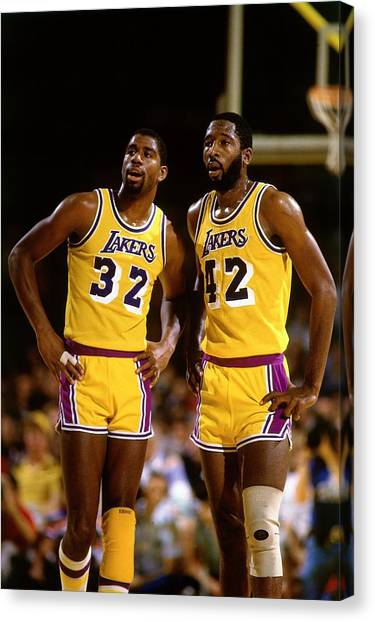 Magic Johnson Canvas Print - Los Angeles Lakers by Andrew D. Bernstein