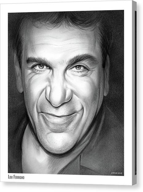 Bodybuilder Canvas Print - Lou Ferrigno by Greg Joens