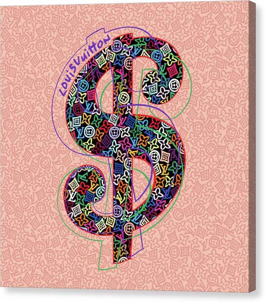 Warhol Canvas Print - Louis Vuitton Dollar Sign-3 by Nikita