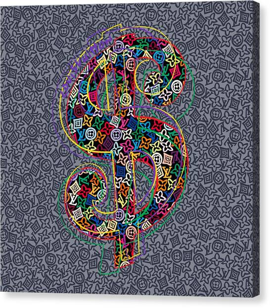 Warhol Canvas Print - Louis Vuitton Dollar Sign-9 by Nikita