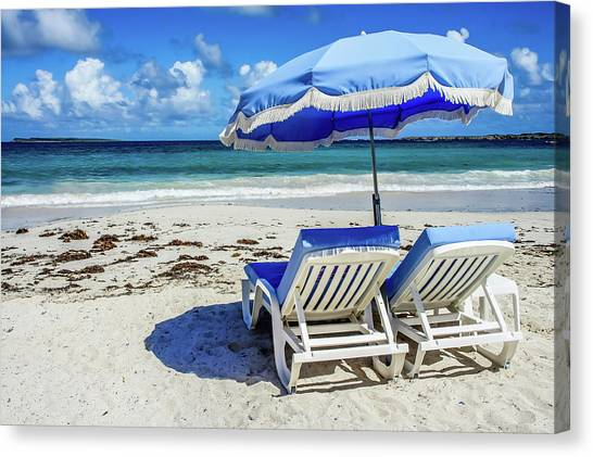 Canvas Print featuring the photograph Lounging On Orient Beach, St. Martin by Dawn Richards