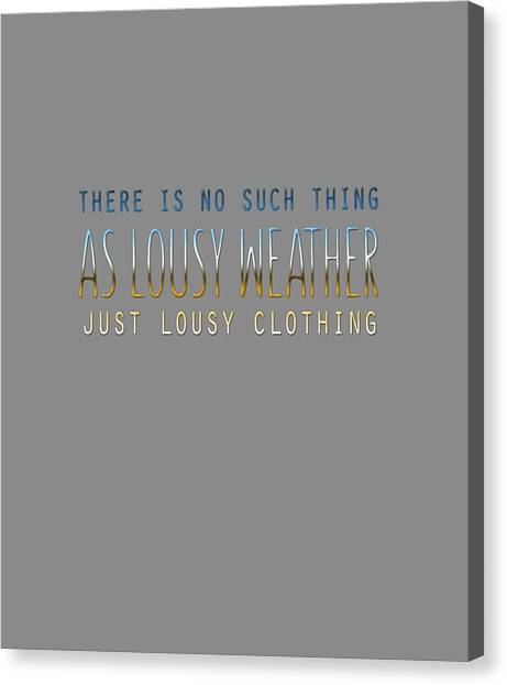 Lousy Clothing Canvas Print