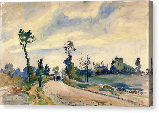 Camille Canvas Print - Louveciennes, Road Of Saint-germain - Digital Remastered Edition by Camille Pissarro
