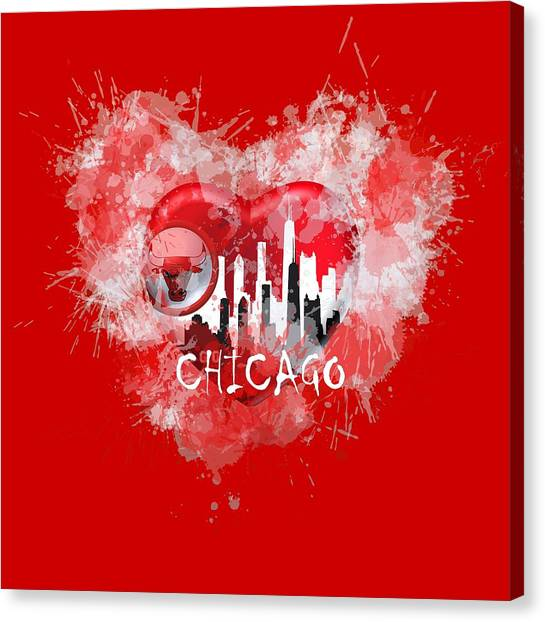 Love Chicago Colors Canvas Print