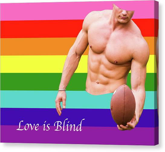 Love Is Blind 4 Canvas Print