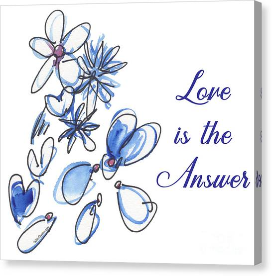 Love Is The Answer Canvas Print