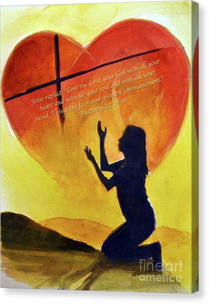 Love The Lord Canvas Print