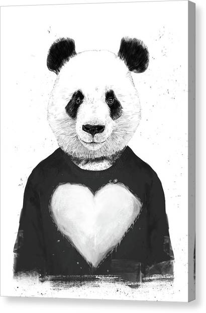 Panda Canvas Print - Lovely Panda  by Balazs Solti