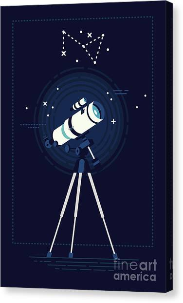Science Education Canvas Print - Lovely Vector Background On Astronomy by Mascha Tace
