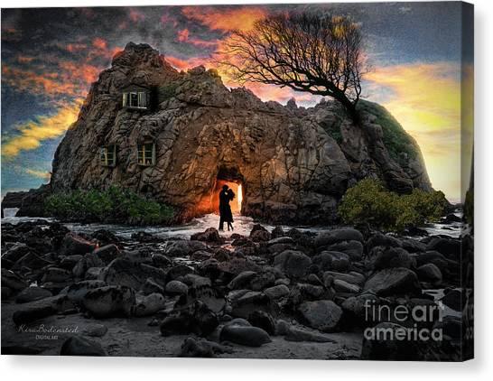 Loveshack On The Rocks Canvas Print