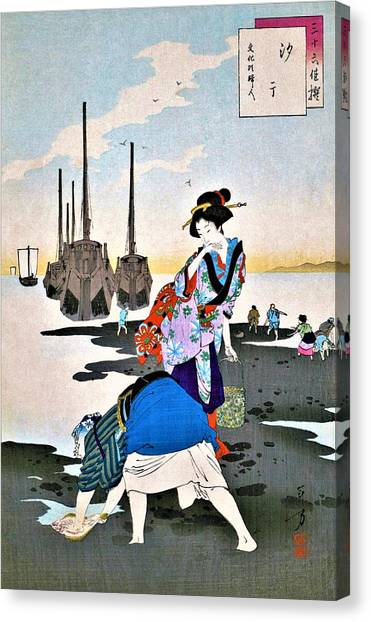 Low Tide Canvas Print - Low Tide - Top Quality Image Edition by Mizuno Toshikata