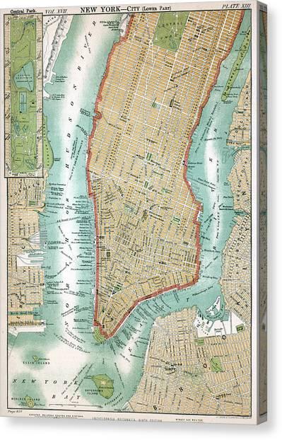 Lower Manhattan, C. 1890 Canvas Print by Kean Collection